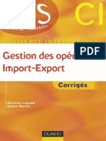Gestion Des Operations Import Export Corriges