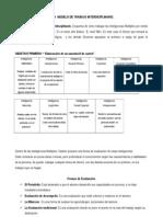 GUÍA  MODELO DE TRABAJO INTERDICIPLINARIO