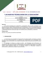 Nuevas tecnologias en educación. Antonia Moya