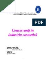 Conservanti În Industria Cosmetică