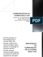 Communication in Human Daily Life