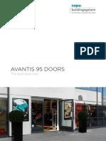 Avantis 95 aluminium doors