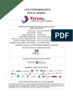 Note d'Information Total Maroc