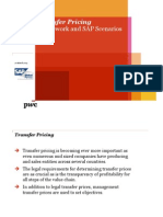 Transfer Pricing Framework and SAP Scenarios