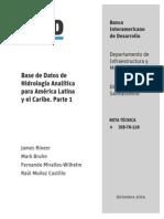 Base de Datos de Hidrología Analítica Para América Latina y El Caribe