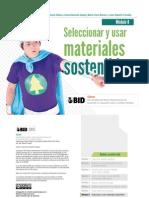Seleccionar y Usar Materiales Sostenibles