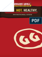 Genghis Grill Nutritional Guide