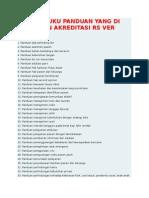 Daftar Buku Panduan Yang Di Butuhkan Akreditasi Rs Ver 2012
