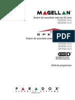 Ghid programare Paradox Spectra Magellan
