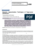 Bayesian approximation techniques of Topp-Leone distribution