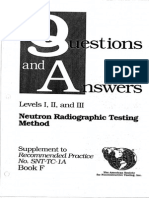 ASNT Level III Neutron Radiographic Testing Method