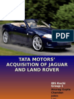 Tata Morots' Acquasiton of Jaguar and Land Rover