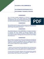 Anexo _B_ del Tratado General de Integración Económica Centroamericana Resolución 18-96 (COMRIEDRE)