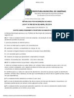 Lei 14789 de 04/Abril/2014 Campinas SP Brasil