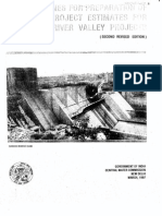 1997 Guidelines Preparation Project Estimates River Valley Projects