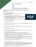 Excel VBA Course Notes 1 - Macro Basics
