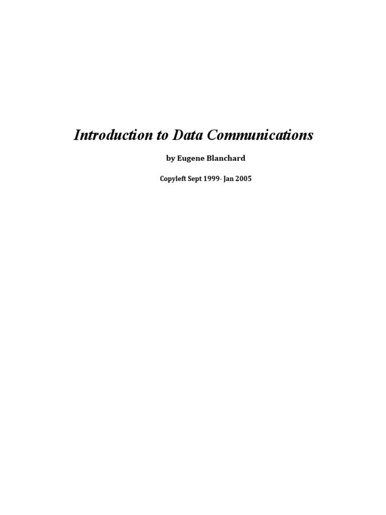 introduction to data communications modem osi model