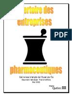 Repertoire Des Entreprises Pharmaceutiques