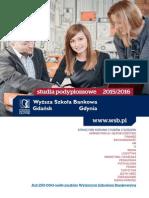 Informator 2015 - studia podyplomowe - Wyższa Szkoła Bankowa w Gdańsku.pdf