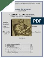 Atestat- Clement Alexandrinul