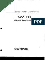 manual de servicio Olympus SZ-III -