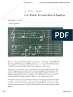 Music Education in Public Schools Gets a Passing Grade
