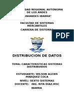 Caracteristicas Sistemas Distribuidos
