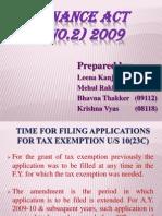 Finance Act 2009