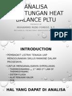 Analisa Perhitungan Heat Balance Pltu