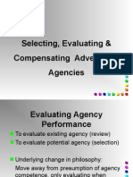 Selecting & Evaluating Advtg Agency
