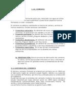 FABRICACION Y TIPOS DE CEMENTO