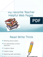 teacher helpful web pages