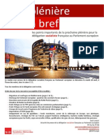 Briefing de plénière - Avril 2015