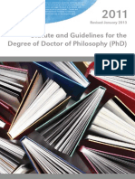 2011 Phd Statute and Guidelines