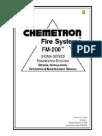 Manual FM-200 Sigma Chemetron