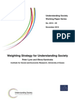 Weighting Strategy for Understanding Society 2010