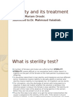 Sterility and Its Treaerrrtment Ppt