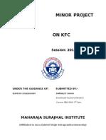 Kfc Project Report