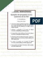 Preguntas Pau Miguel Hernandez