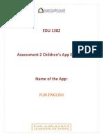 edu 1302 assessment 2 childrens app evaluati