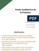 Punto Isoeléctrico de La Proteína