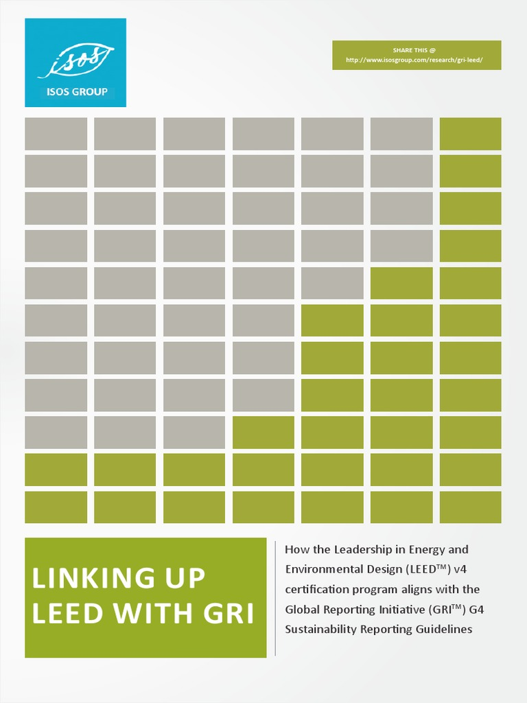 Linking Up LEED v4 With GRI G4 2014 | Leadership In Energy And ...