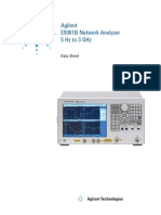 Agilent E5061B Network Analyzer Data Sheet