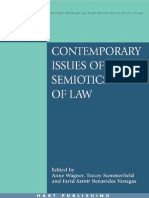 Contemporary Issues of Semiotics of Law - Anne Wagner