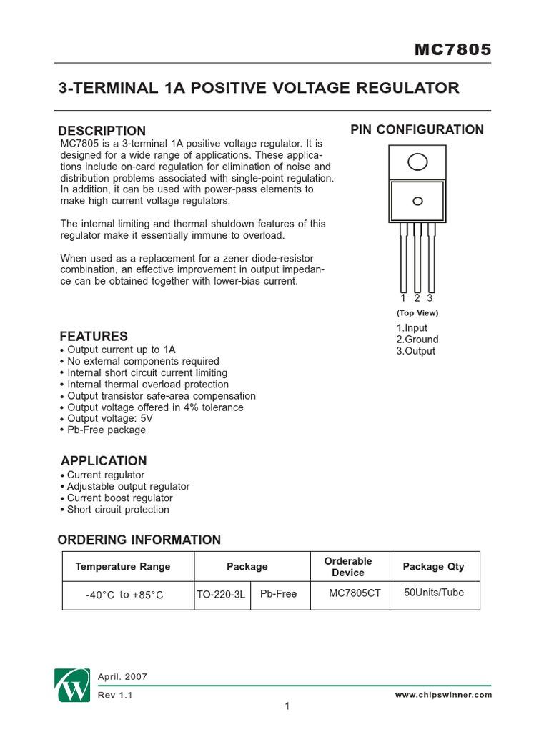 Mc7805 Regulator Current Booster 1540032030v1