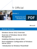 Windows Server 2012 - Deploying and Managing