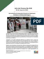 Boletin 018_ Herramientas de Atención Primaria en Salud Para Fortalecer La Maternidad Segura