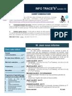Info-traceess Numéro 33, le 4 Mai2015