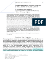 The Relationship Between Time Perspective And Subjective well being at older adults