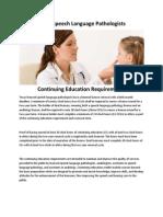 Texas Speech Language Pathologists Continuing Education Requirements